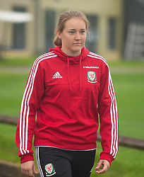 CARDIFF, WALES - Friday, August 19, 2016: Wales' Bethan Davies during a pre-match walk at the Vale Resort ahead of the international friendly match against Republic of Ireland. (Pic by Laura Malkin/Propaganda)