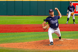 25 May 2019: Peyton Sherlin.  Missouri Valley Conference Baseball Tournament - Dallas Baptist Patriots v Indiana State Sycamores at Duffy Bass Field in Normal IL<br /> <br /> #MVCSPORTS