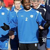 St Johnstone Training...02.02.07<br />Jason Scotland having a joke with manager Owen Coyle during training before facing Falkirk in the Scottish Cup tomorrow<br />see story by Gordon Bannerman Tel: 01738 553978 or 07729 865788<br />Picture by Graeme Hart.<br />Copyright Perthshire Picture Agency<br />Tel: 01738 623350  Mobile: 07990 594431
