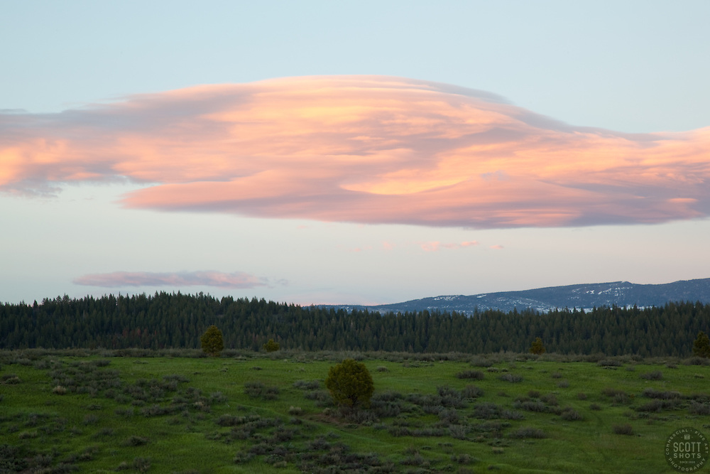 """""""Prosser Reservoir Sunset 2"""" - This sunset was photographed at Prosser Reservoir in Truckee, CA."""