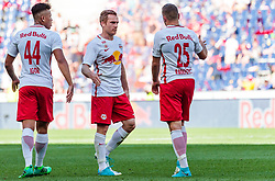 28.05.2017, Red Bull Arena, Salzburg, AUT, 1. FBL, FC Red Bull Salzburg vs Cashpoint SCR Altach, 36. Runde, im Bild Jubel Salzburg, Igor (FC Red Bull Salzburg), Christian Schwegler (FC Red Bull Salzburg), Josip Radosevic (FC Red Bull Salzburg) // during Austrian Football Bundesliga 36th round Match between FC Red Bull Salzburg and Cashpoint SCR Altach at the Red Bull Arena, Salzburg, Austria on 2017/05/28. EXPA Pictures © 2017, PhotoCredit: EXPA/ JFK