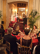 Dinner for Jacqueline de Ribes after Legion d'honneur award. 50 Rue de la Bienfaisance. Paris. *** Local Caption *** -DO NOT ARCHIVE-© Copyright Photograph by Dafydd Jones. 248 Clapham Rd. London SW9 0PZ. Tel 0207 820 0771. www.dafjones.com.<br /> Dinner for Jacqueline de Ribes after Legion d'honneur award. 50 Rue de la Bienfaisance. Paris.