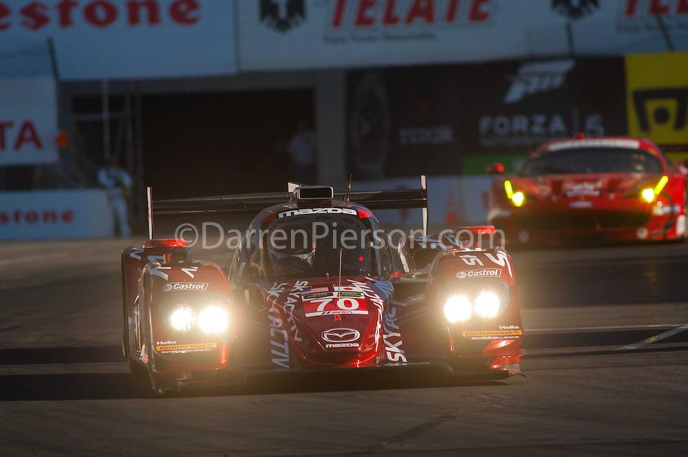 #70 SpeedSource Mazda Prototype: Tom Long, Sylvain Tremblay