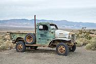 USA, California, Mojave desert, Ballarat, ghost town, Pax Americana Charles Manson Truck