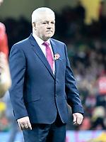 Rugby Union - 2017 Under Armour Series (Autumn Internationals) - Wales vs. Australia<br /> <br /> Wales coach Warren Gatland during the warm up, at The Principality Stadium (Millennium Stadium).<br /> <br /> COLORSPORT/WINSTON BYNORTH
