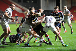Tom Varndell of Bristol Rugby closes in on the try line - Mandatory by-line: Paul Knight/JMP - 13/01/2017 - RUGBY - Ashton Gate - Bristol, England - Bristol Rugby v Bath Rugby - European Challenge Cup