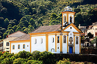 view of a church at the unesco world heritage city of ouro preto in minas gerais brazil