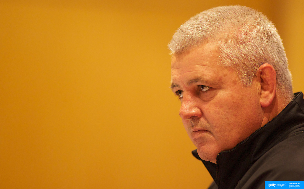 Welsh coach Warren Gatland during a press conference in Auckland at the IRB Rugby World Cup tournament, Auckland, New Zealand, 18th October 2011. Photo Tim Clayton...
