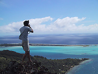 Eric Cheng on assignment in Bora Bora, French Polynesia