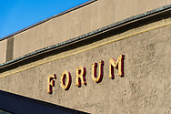 A close-up of the logo for the Forum building in Copenhagen