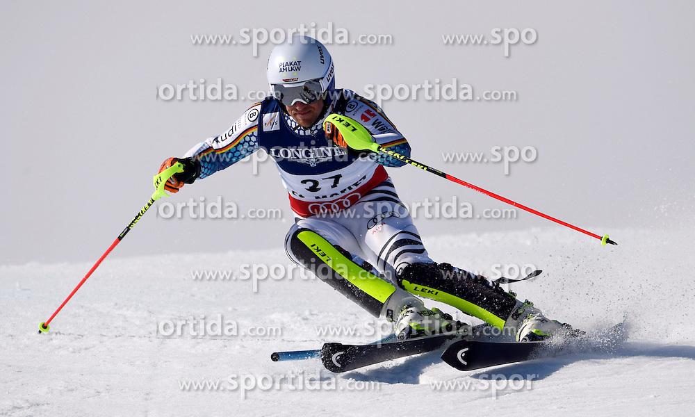 13.02.2017, St. Moritz, SUI, FIS Weltmeisterschaften Ski Alpin, St. Moritz 2017, alpine Kombination, Herren, Slalom, im Bild Josef Ferstl (GER) // Josef Ferstl of Germany in action during his run of Slalom competition for the men's Alpine combination of the FIS Ski World Championships 2017. St. Moritz, Switzerland on 2017/02/13. EXPA Pictures &copy; 2017, PhotoCredit: EXPA/ Sammy Minkoff<br /> <br /> *****ATTENTION - OUT of GER*****