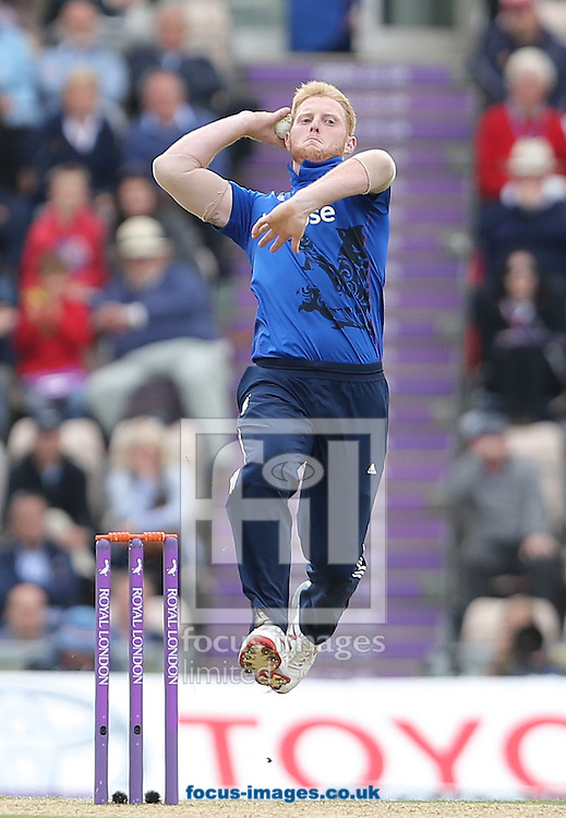 Ben Stokes of England during the Royal London One Day Series match at the Ageas Bowl, West End<br /> Picture by Paul Terry/Focus Images Ltd +44 7545 642257<br /> 14/06/2015