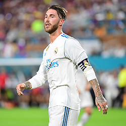 Sergio Ramos of Real Madrid during the International Champions Cup match between Barcelona and Real Madrid at Hard Rock Stadium on July 29, 2017 in Miami Gardens, Florida. (Photo by Dave Winter/Icon Sport)