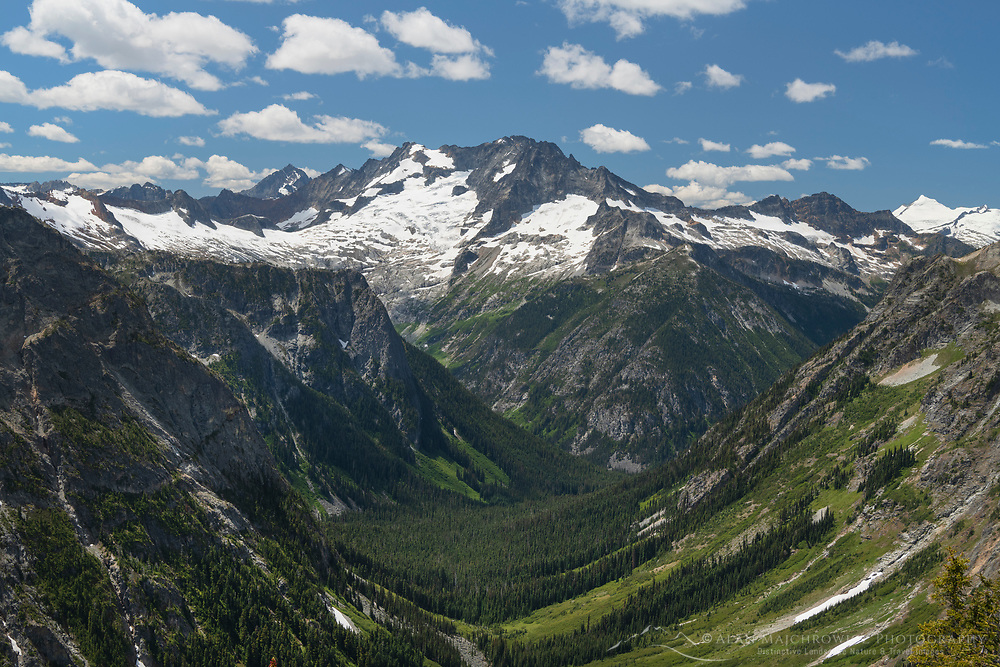 Mount Logan and Fisher Creek Valley, North Cascades National Park Washington