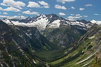Mount Logan and Fisher Creek Valley, North Cascades National Park Washington
