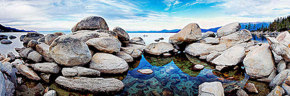 Rock formations in Nevada State Park at LakeTahoe