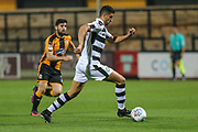 Forest Green Rovers Omar Bugiel(11) warming up during the EFL Sky Bet League 2 match between Cambridge United and Forest Green Rovers at the Cambs Glass Stadium, Cambridge, England on 26 September 2017. Photo by Shane Healey.