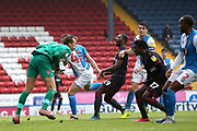Blackburn Rovers goalkeeper Christian Walton (1) in action during the EFL Sky Bet Championship match between Blackburn Rovers and Reading at Ewood Park, Blackburn, England on 18 July 2020.