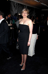 THERESA MAY MP at the Conservative Party's Black & White Ball held at Old Billingsgate, 16 Lower Thames Street, London EC3 on 8th February 2006.<br />