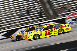 April 8, 2018 - Ft. Worth, Texas, United States of America - April 08, 2018 - Ft. Worth, Texas, USA: Ricky Stenhouse, Jr (17) and Ryan Blaney (12) battle for position during the O'Reilly Auto Parts 500 at Texas Motor Speedway in Ft. Worth, Texas. (Credit Image: © Chris Owens Asp Inc/ASP via ZUMA Wire)