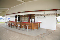 Celebrity Equinox, a brand new cruise ship belonging to Celebrity Cruises, during her river conveyance down the River Emms from the shipyard where she was built to the open sea..Onboard feature photos. (ship unfinished).Sunset bar