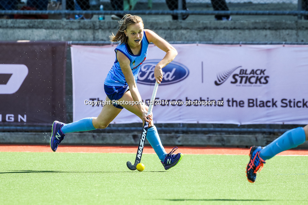 Northland's Teuila Wendt in action. Northland v Auckland Womens, FORD National Hockey League, ITM Hockey Centre, Whangarei, New Zealand. Saturday 10 September, 2016. Copyright photo: Heath Johnson / www.photosport.nz