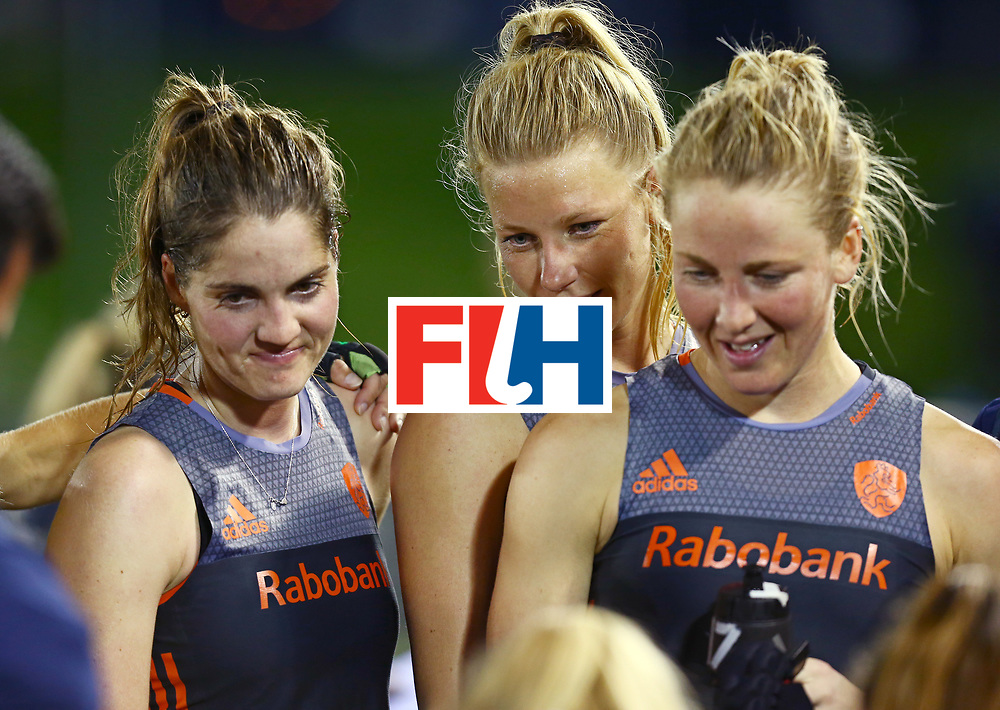 New Zealand, Auckland - 23/11/17  <br /> Sentinel Homes Women&rsquo;s Hockey World League Final<br /> Harbour Hockey Stadium<br /> Copyrigth: Worldsportpics, Rodrigo Jaramillo<br /> Match ID: 10306 - NED vs CHN<br /> Photo: (13) van MAASAKKER Caia, (7) de WAARD Xan and (8) KEETELS Marloes&nbsp;(C)