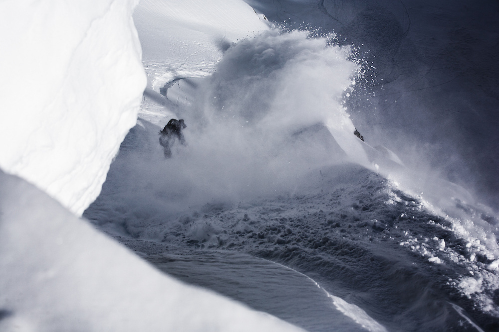 Travis Parker, Chamonix, France, during the Transworld Snowboarding story shoot