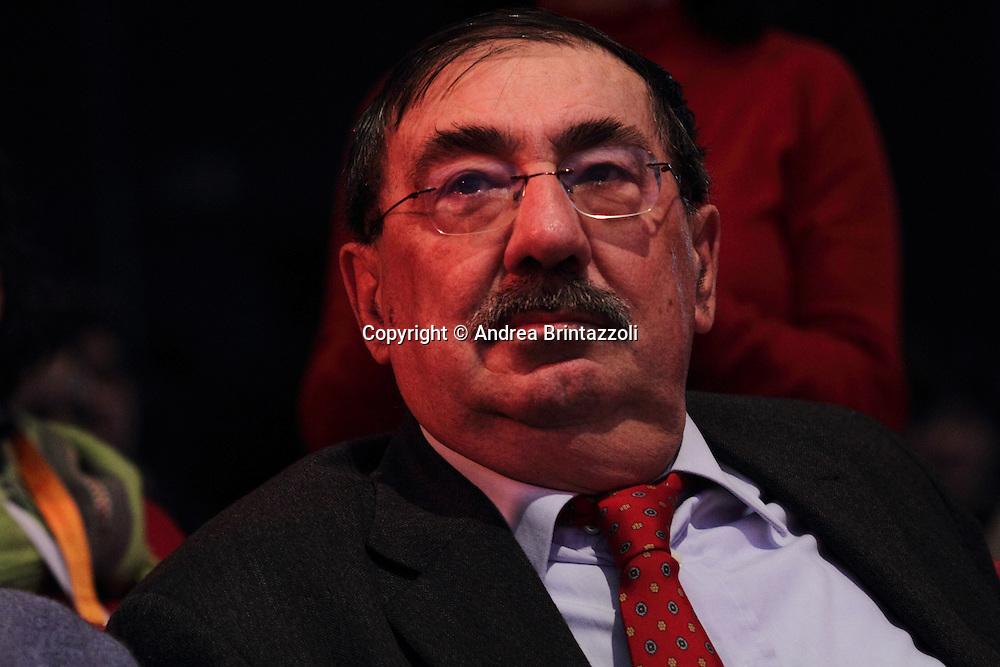 Riccione 25 Gennaio 2014 - 2&deg; Congresso Nazionale Sinistra Ecologia Liberta' - SEL.<br /> Fabio Mussi al congresso SEL