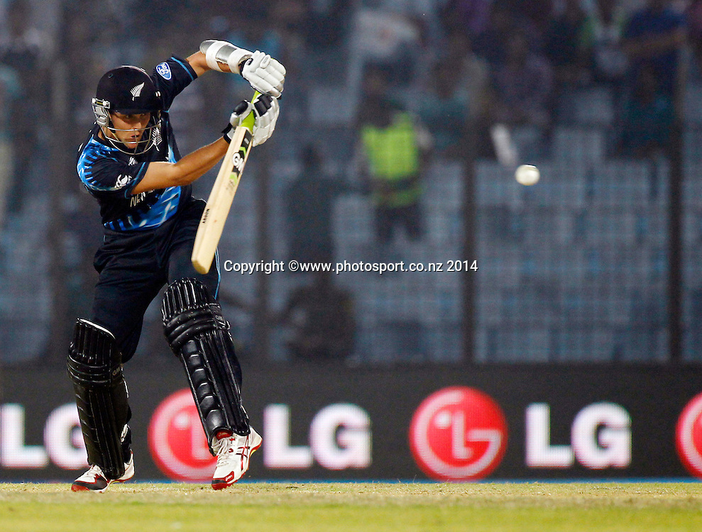 Kane Williamson batting - ICC World Twenty20 cricket, Zahur Ahmed Chowdhury Stadium, Chittagong, Bangladesh. New Zealand v Sri Lanka, 31 March 2014. Photo: www.photosport.co.nz