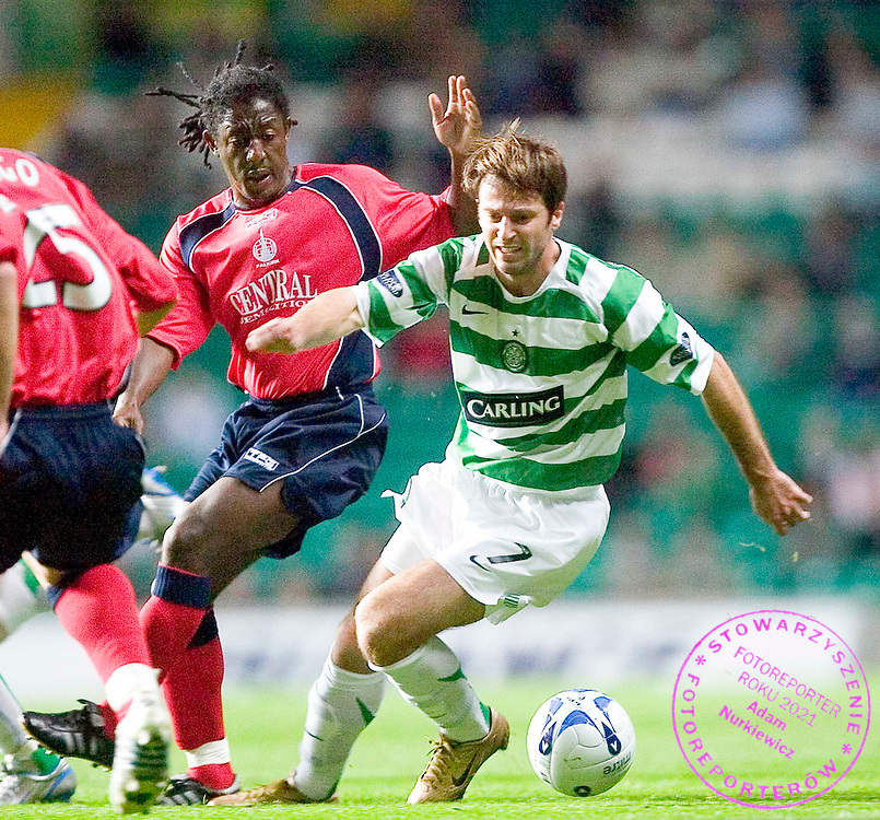 21/09/05 CIS CUP 3RD RND.CELTIC V FALKIRK .CELTIC PARK - GLASGOW .L/R russell latapy and maciej zurawski of celtic.