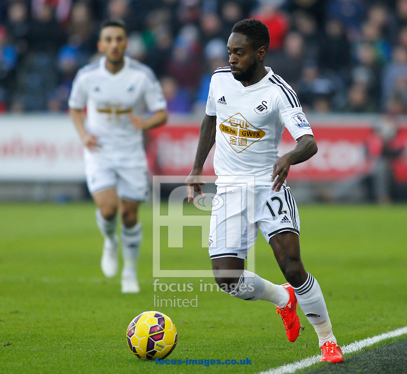 Nathan Dyer of Swansea City during the Barclays Premier League match at the Liberty Stadium, Swansea<br /> Picture by Mike Griffiths/Focus Images Ltd +44 7766 223933<br /> 07/02/2015