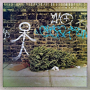 O Christmas Tree<br /> <br />  New York, U.S. - A discarded Christmas tree sits surrounded by graffiti along the sidewalks of New York City awaiting pick-up. <br /> <br /> O' Christmas Tree - Launched December 24, 2013 - The Christmas tree has become so popular that 8 in 10 Americans say they plan to put one up this year, according to Pew Research Center, bringing the annual U.S. holiday tree market to $1 billion. For the next week, everyone who celebrates the Christmas holiday will be doting over these brightly lit holiday centerpieces until Christmas finally comes. Then, when it's all over, they'll be just as quickly forgotten. The contrast between affection and then abandonment is central to Bryan Smith's set of images titled 'O Christmas Tree'. Bryan wandered the streets the of New York City creating these beautiful images of abandoned Christmas trees at the end of last years festive season.The tree tradition began in the Middle Ages in Roman Catholic countries, when the Feast Day of Adam and Eve was celebrated on Dec. 24. The Germans would do a procession carrying ''paradise trees'' with apples on them representing the forbidden fruit. In England during the Victorian era, when Queen Victoria married Prince Albert, a German, he brought Christmas trees into their palaces. The first official Christmas tree in the USA was lit up in 1842 In Williamsburg, Virginia. <br /> ©Exclusivepix