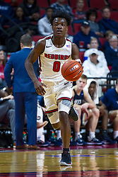 NORMAL, IL - November 29: DJ Horne during a college basketball game between the ISU Redbirds and the Prairie Stars of University of Illinois Springfield (UIS) on November 29 2019 at Redbird Arena in Normal, IL. (Photo by Alan Look)