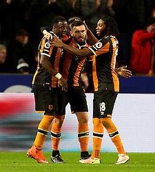 Robert Snodgrass of Hull City celebrates after scoring his sides second goal  - Mandatory by-line: Matt McNulty/JMP - 30/12/2016 - FOOTBALL - KCom Stadium - Hull, England - Hull City v Everton - Premier League