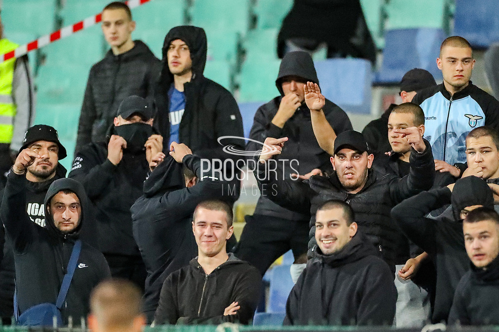The game is stopped over perceived racist chanting from the home supporters during the UEFA European 2020 Qualifier match between Bulgaria and England at Stadion Vasil Levski, Sofia, Bulgaria on 14 October 2019.