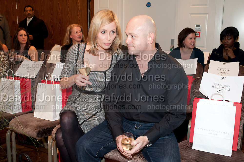 RENEE O'BRIEN; ROSS KEMP, Stephane St. Jaymes Spring Summer 2011 fashion show.<br /> The Westbury Mayfair, Bond Street, London,DO NOT ARCHIVE-&copy; Copyright Photograph by Dafydd Jones. 248 Clapham Rd. London SW9 0PZ. Tel 0207 820 0771. www.dafjones.com.