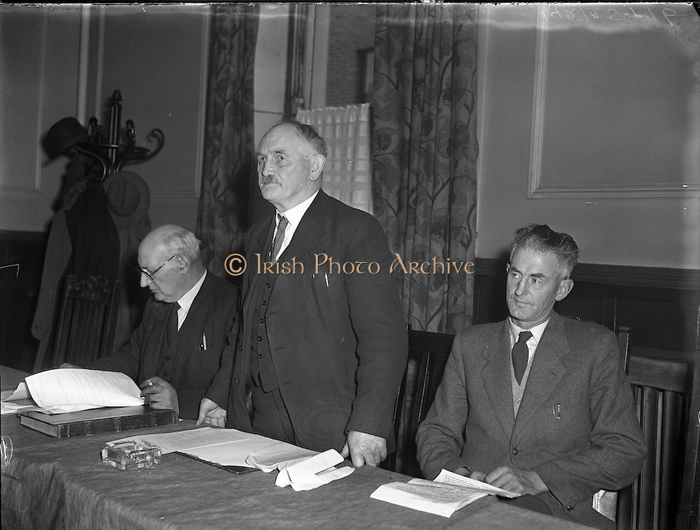 10/10/1956<br /> 10 October 1956<br /> <br /> Mr M J Corry TD, Cork, Addressing the Irish Sugar Beet Growers Meeting<br /> <br /> Martin John Corry (12 December 1890 – 14 February 1979) was a farmer and long-serving backbench Teachta Dála (TD) for Fianna Fáil. He represented various County Cork constituencies covering his farm near Glounthaune, east of Cork city. He was a founder member of Fianna Fáil in 1926, and among its first TDs after the June 1927 general election. He was returned at every election until he stood down at the 1969 election. Corry was active in farming issues, serving as Chairman of the Beet Growers' Association in the 1950s. In 1966, upon the resignation of Seán Lemass as Fianna Fáil leader and Taoiseach, Corry was among the Munster-based TDs who approached Jack Lynch to be a compromise candidate for the party leadership.