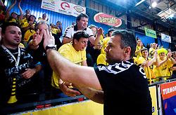 Coach of Gorenje Ivica Obrvan after handball match of MIK 1st Men league between RD Slovan and RK Gorenje Velenje, on May 16, 2009, in Arena Kodeljevo, Ljubljana, Slovenia. Gorenje won 27:26. (Photo by Vid Ponikvar / Sportida)