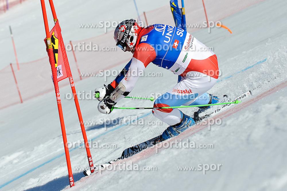 16.03.2012, Planai, Schladming, AUT, FIS Weltcup Ski Alpin, Teambewerb, im Bild Silvan Zurbriggen (SUI) // Silvan Zurbriggen of Switzerland during Nation Team Event of FIS Ski Alpine World Cup at 'Planai' course in Schladming, Austria on 2012/03/16. EXPA Pictures © 2012, PhotoCredit: EXPA/ Sandro Zangrando