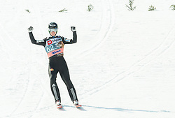 Jurij Tepes of Slovenia reacts during the Ski Flying Individual Qualification at Day 1 of FIS World Cup Ski Jumping Final, on March 19, 2015 in Planica, Slovenia. Photo by Vid Ponikvar / Sportida