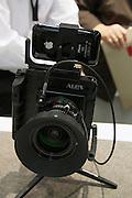 Photokina 2010, World's biggest bi-annual photo fair. Alpa iPhone viewfinder holder accessory.