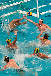 Marc Politze of Germany scores a goal at water polo match between National men teams of Slovenia and Germany in Qualifications for European Championships in Eindhoven 2012 on June 18, 2011 in Pokriti bazen, Kranj Slovenia. (Photo By Matic Klansek Velej / Sportida.com)