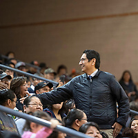 Navajo Nation President Jonathan Nez visits Gallup High School during their District 1-4A District Tournament basketball game against Kirkland Central Thursday, Feb. 28 in Gallup.