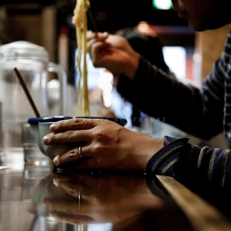 Tokyo, November 14 2012 - Ramen restaurant in the Ebisu area.