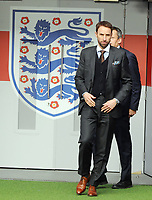 Football - 2016 / 2017 season - new England manager Gareth Southgate, first press conference<br /> <br /> England manager Gareth Southgate walks out onto the Wembley pitch<br /> <br /> COLORSPORT/ANDREW COWIE
