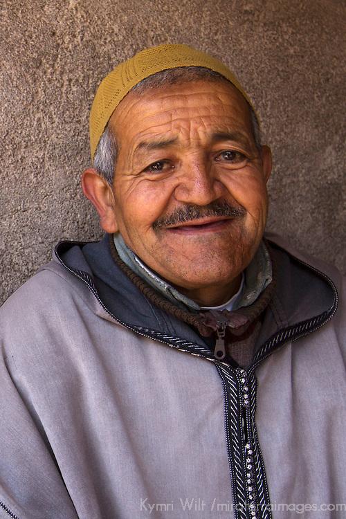 Africa, Morocco, Imlil. Moroccan Berber Villager.