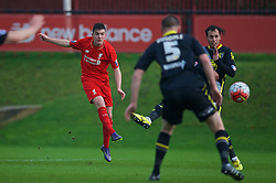KIRKBY, ENGLAND - Tuesday, January 5, 2016: Liverpool's Daniel  during the Under-21 Friendly match against Morecambe at the Kirkby Academy. (Pic by David Rawcliffe/Propaganda)