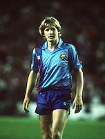 Bernd Schuster (Barcelona) Barcelona v Steaua Bucharest, European Cup Final, Seville, Spain, 1986. Credit: Colorsport