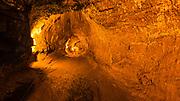 Visitors inside the Thurston Lava Tube, Hawaii Volcanoes National Park, Hawaii USA